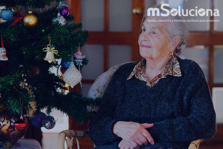 Cuidado de mayores en Navidad: Opción para combatir la soledad
